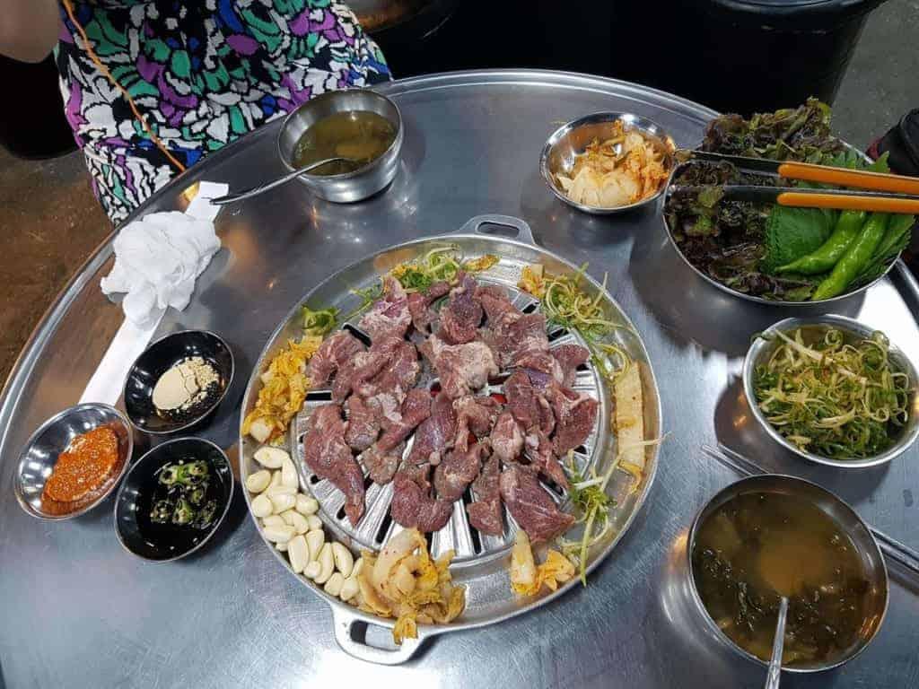 Korean BBQ at Mapo Jeong Daepo