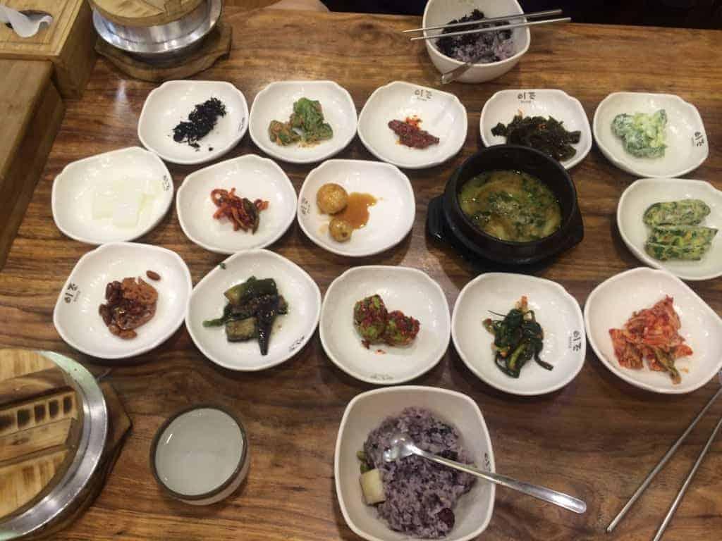 Banchan options are plentiful at Ejo restaurant