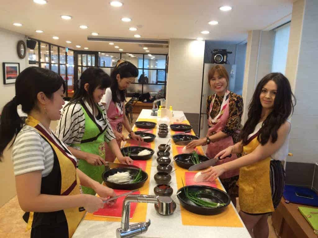 Solo female travel in Korea: Cooking in Seoul