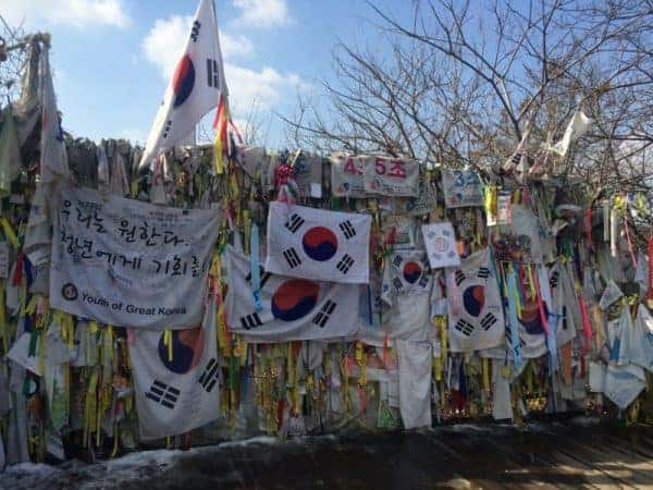 DMZ tour: Ribbons express hope of a peaceful reconciliation