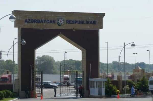 Crossing the border from Azerbaijan to Georgia