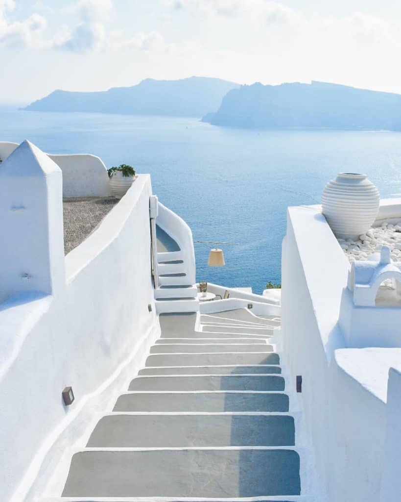 Santorini is endless blue and white