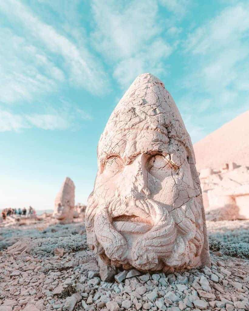 Magnificent Nemrut-Dag in Eastern Turkey is accessible via tours from Cappadocia