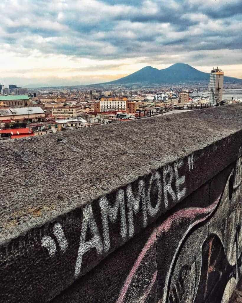 Planning a trip to Italy - looking across to Vesuvius from Naples