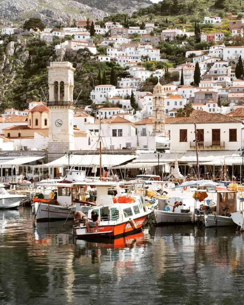 Hydra is home to one of the most beautiful ports in Greece