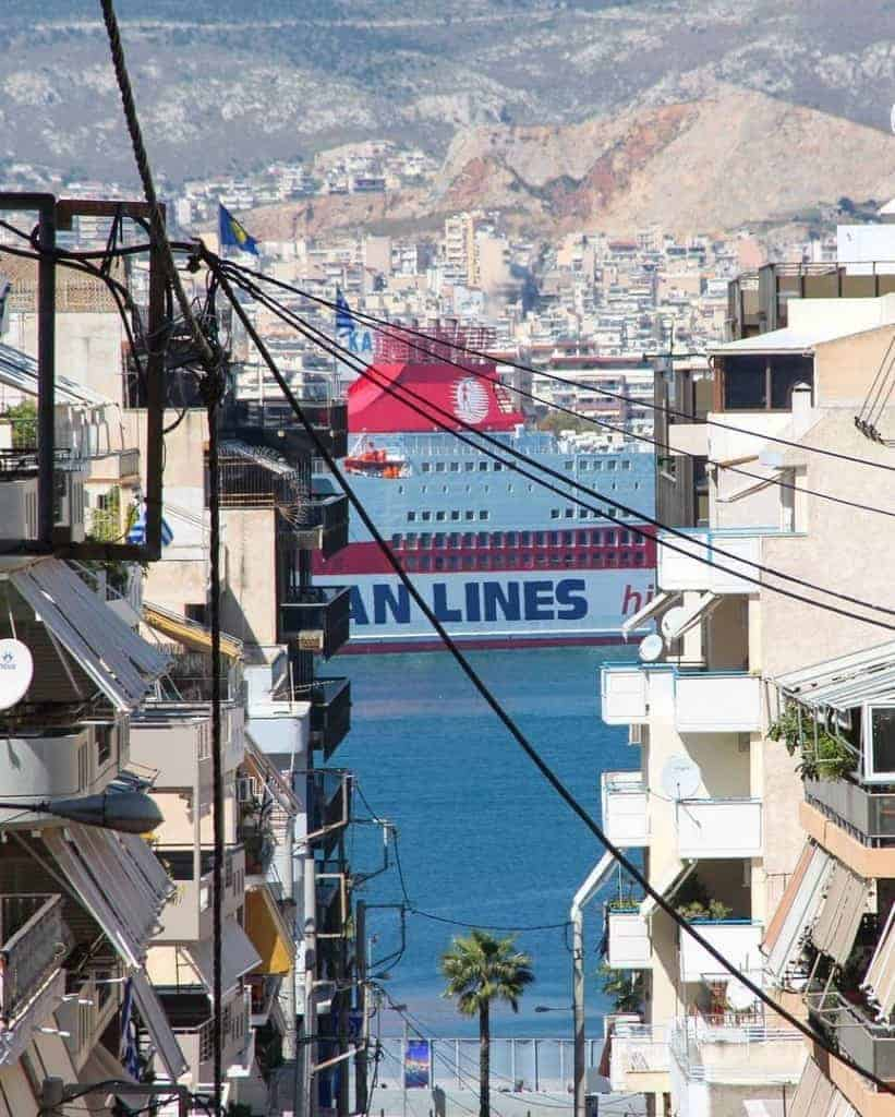 Ferries to Santorini depart regularly from Piraeus port
