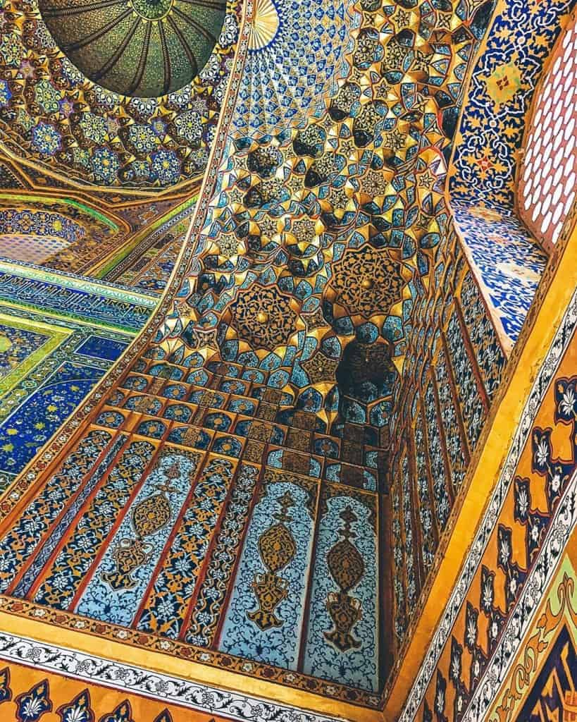 Admire the intricate decors of the Registan's madrassas