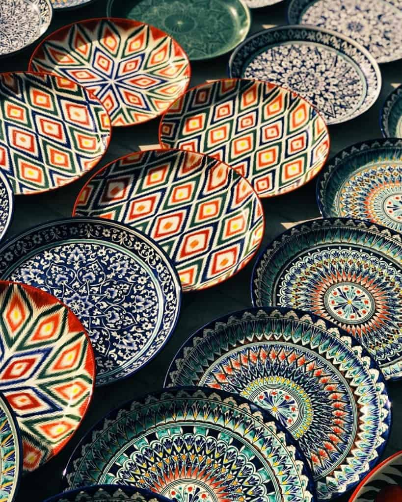 Artisinal products and handicrafts are also sold at Samarkand's markets