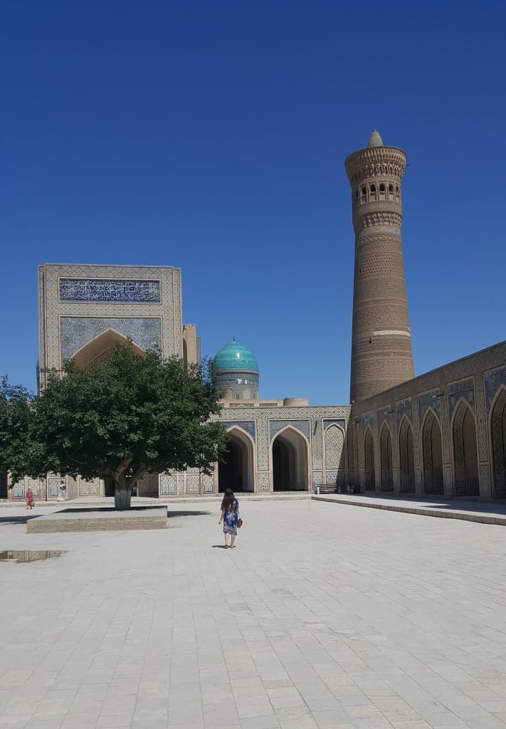 The courtyard of the Kalyan Mosque, Bukhara Uzbekistan