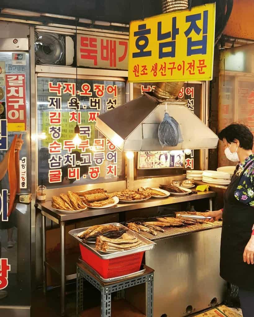 A Street Vendor in Dongdaemun, Seoul