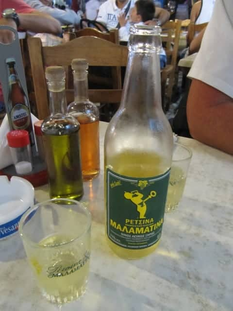 Greek alcohol: Retsina
