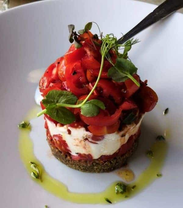 The Best Restaurants in Thessaloniki: A Cretan salad, presented like a cake - Charoupi,