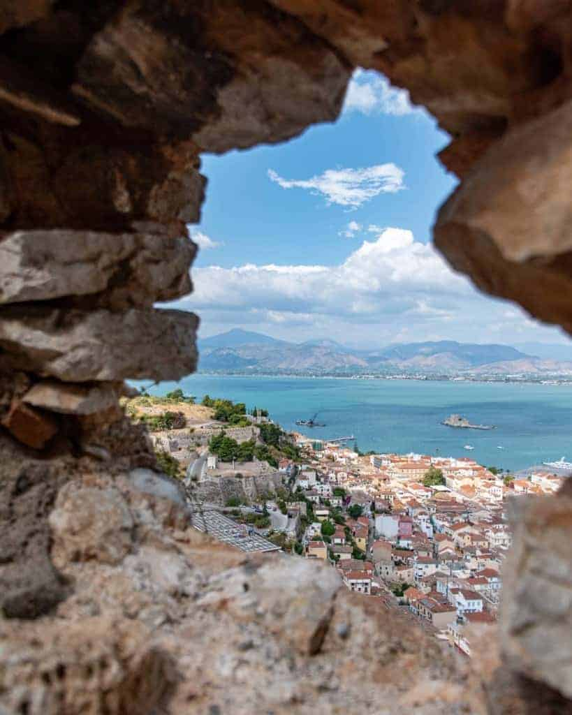 Peering out from Palamidi Castle, Nafplio