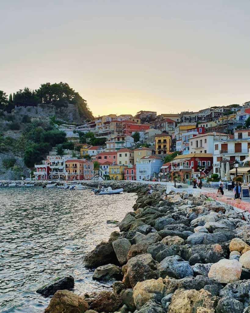 The coastal town of Parga, Northern Greece