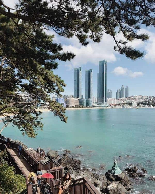 Busan attractions: Glancing over to Haeundae from Dongbaek