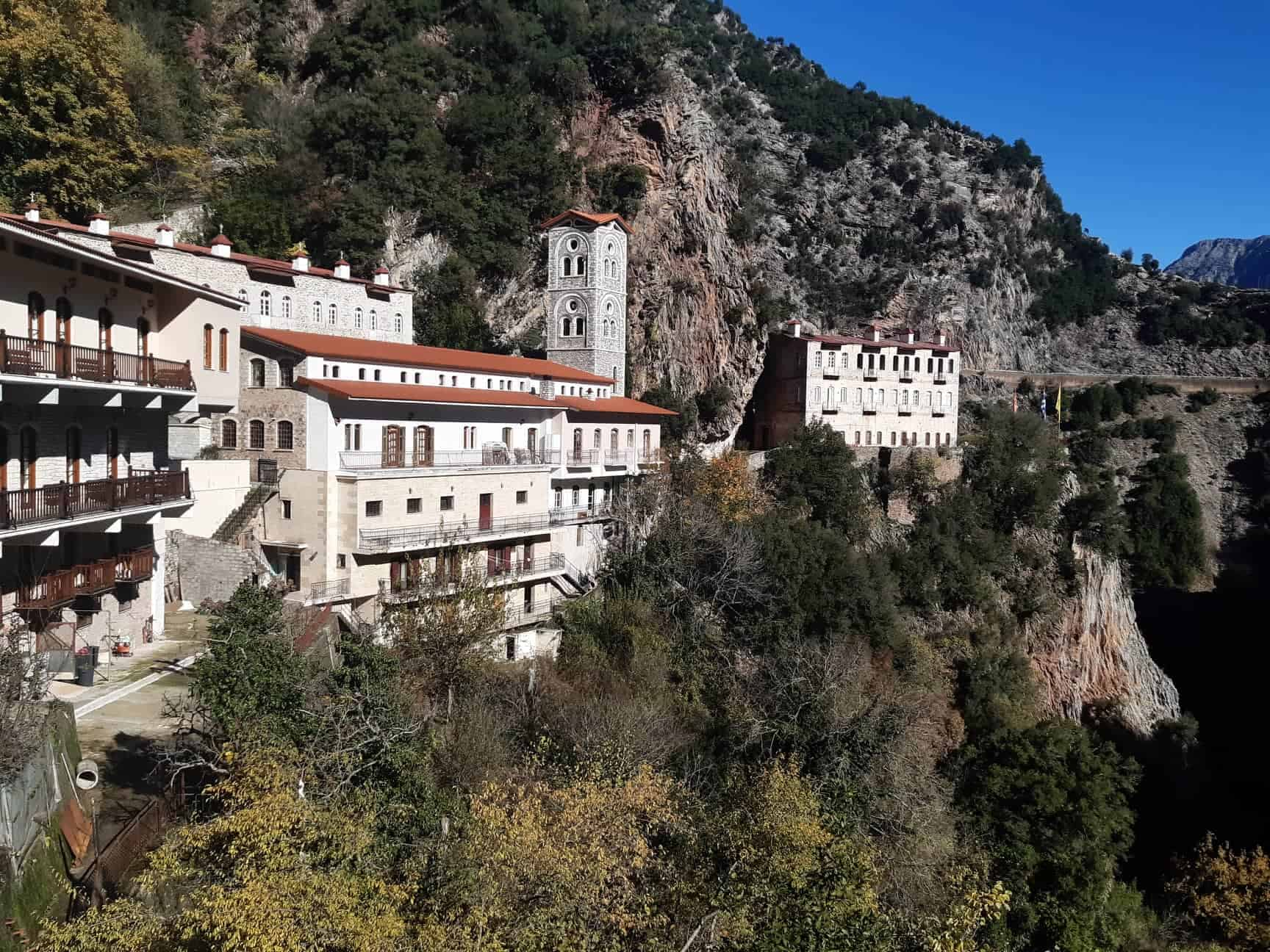 Proussos Monastery is 25km away from Karpenisi