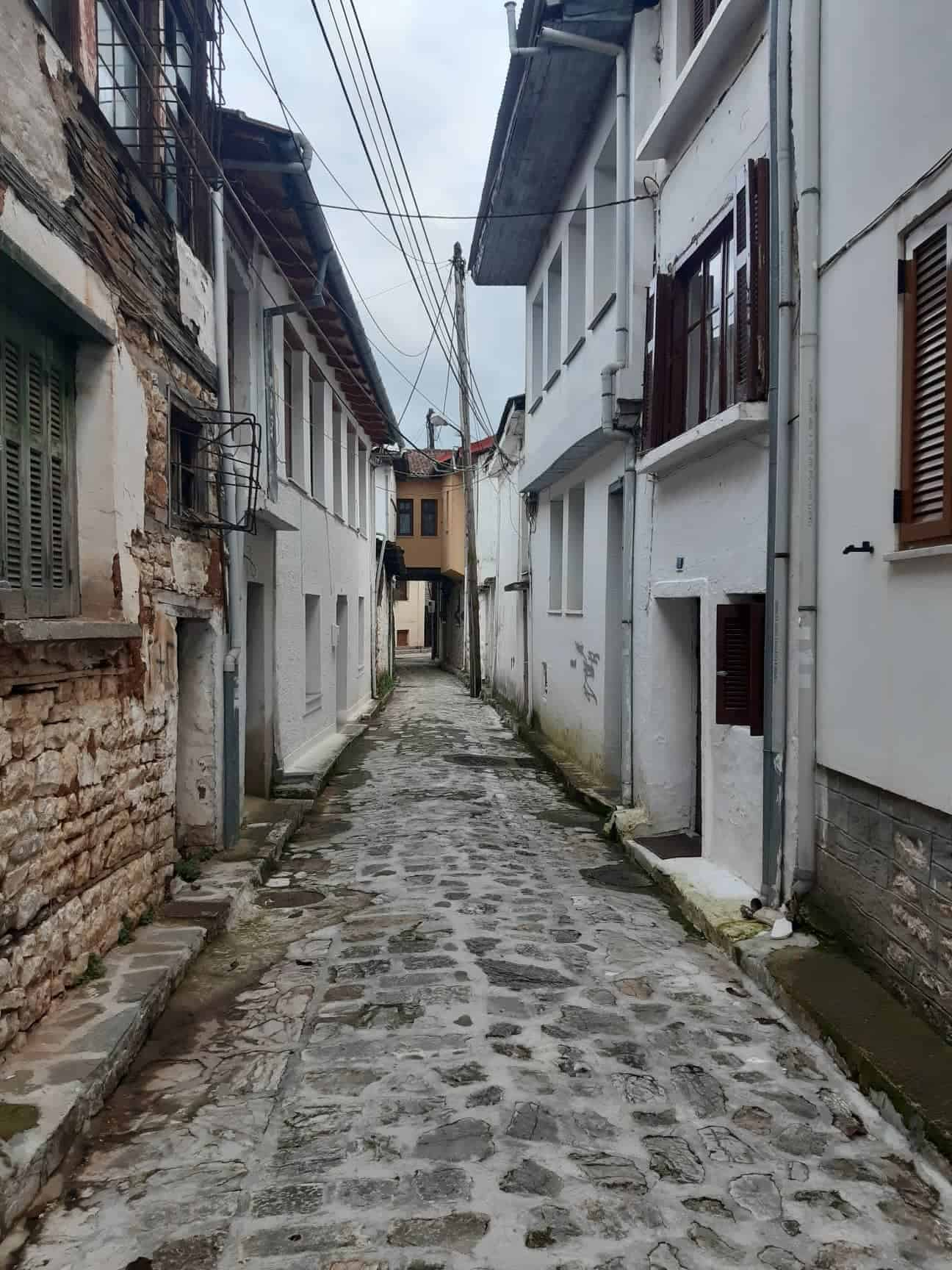 Narrow cobbled streets of Ioannina