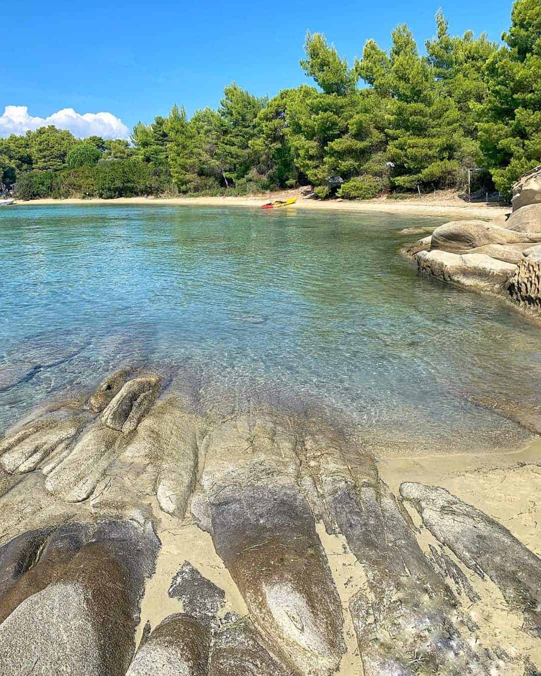 The secluded beaches of Diaporos Island