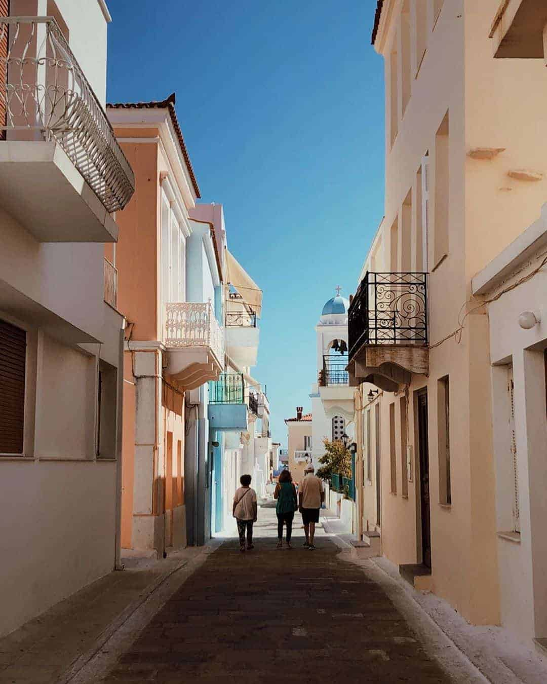 Pastel Coloured Houses of Andros Island