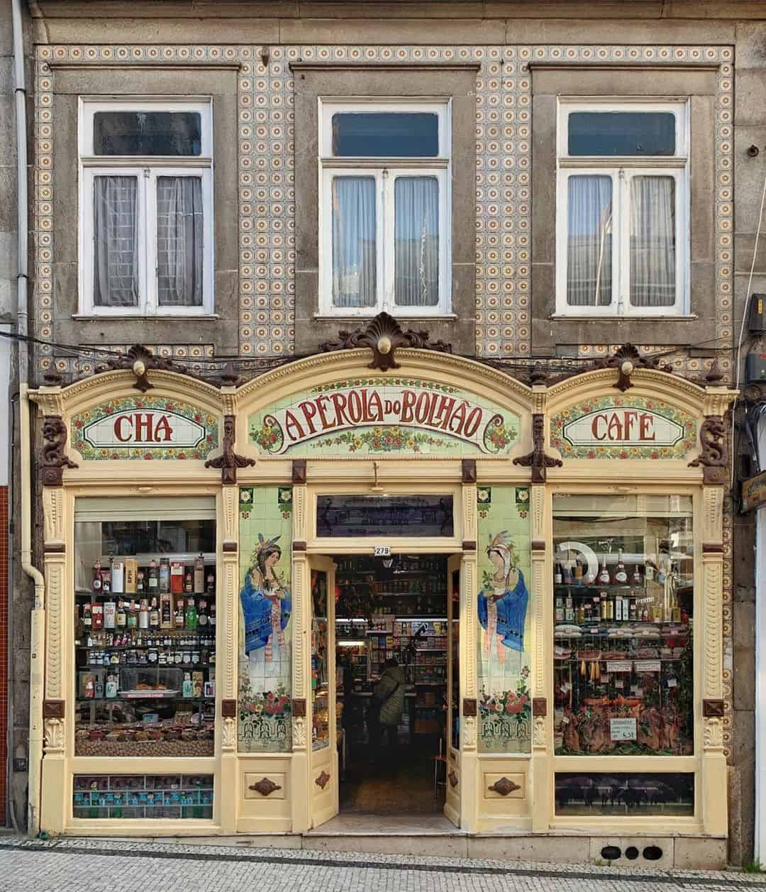Stores in Porto have beautiful facades