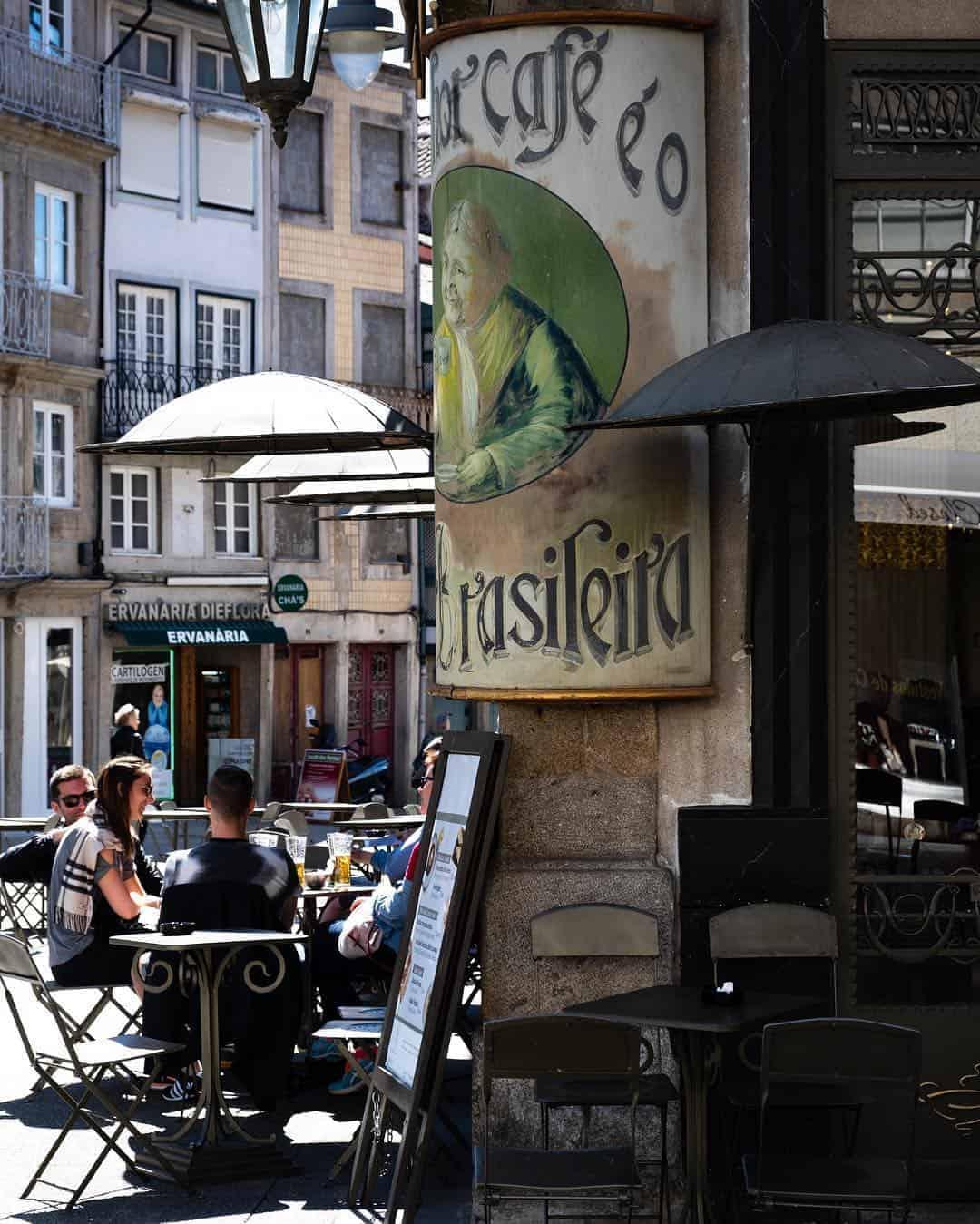 Cafe a Brasileira de Braga, Portugal