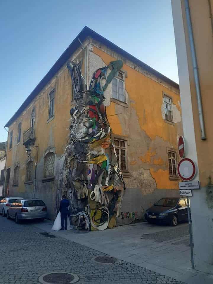 Porto street art: Half Rabbit, Vila Nova de Gaia