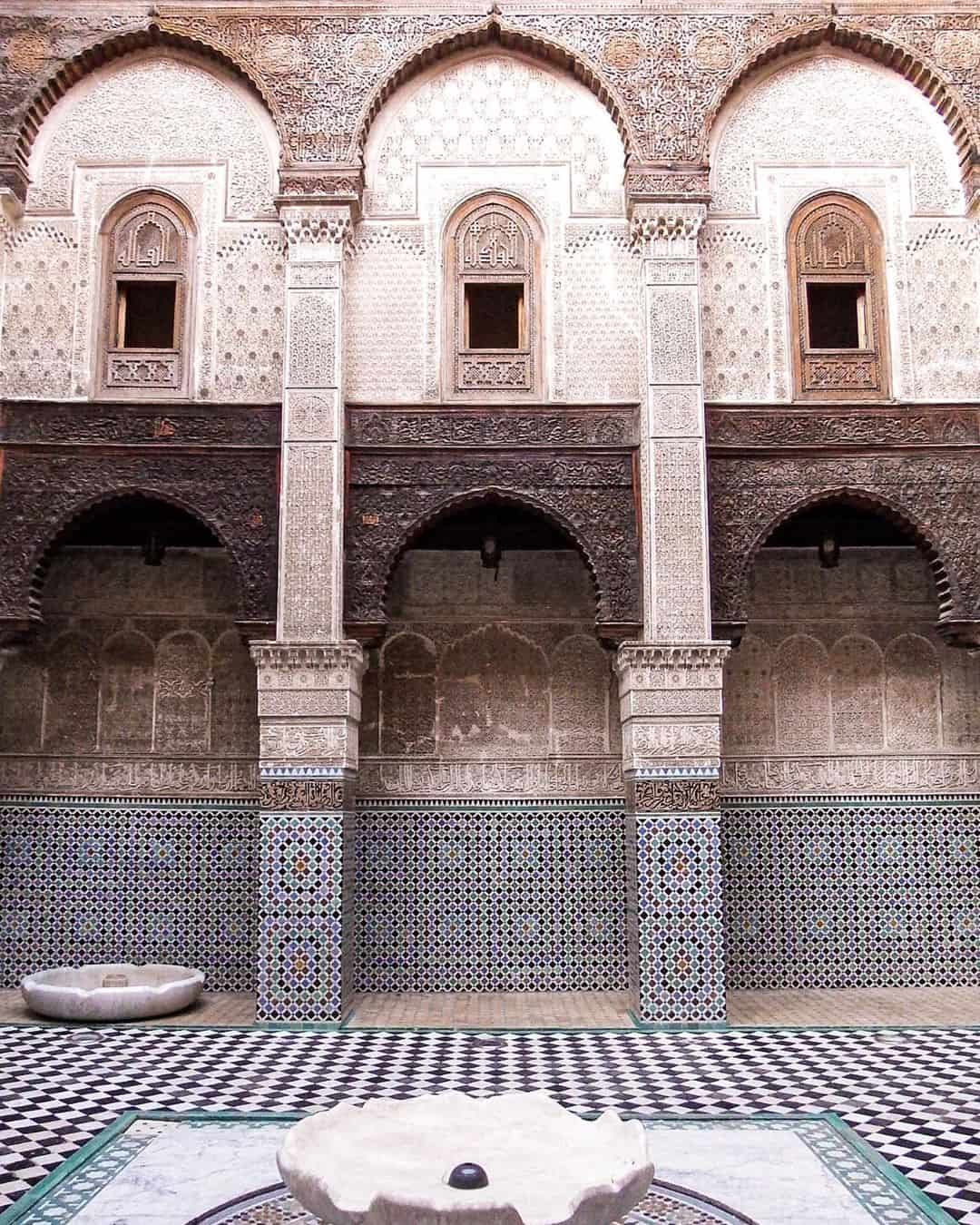 Admire the beautiful Islamic architecture of Fes