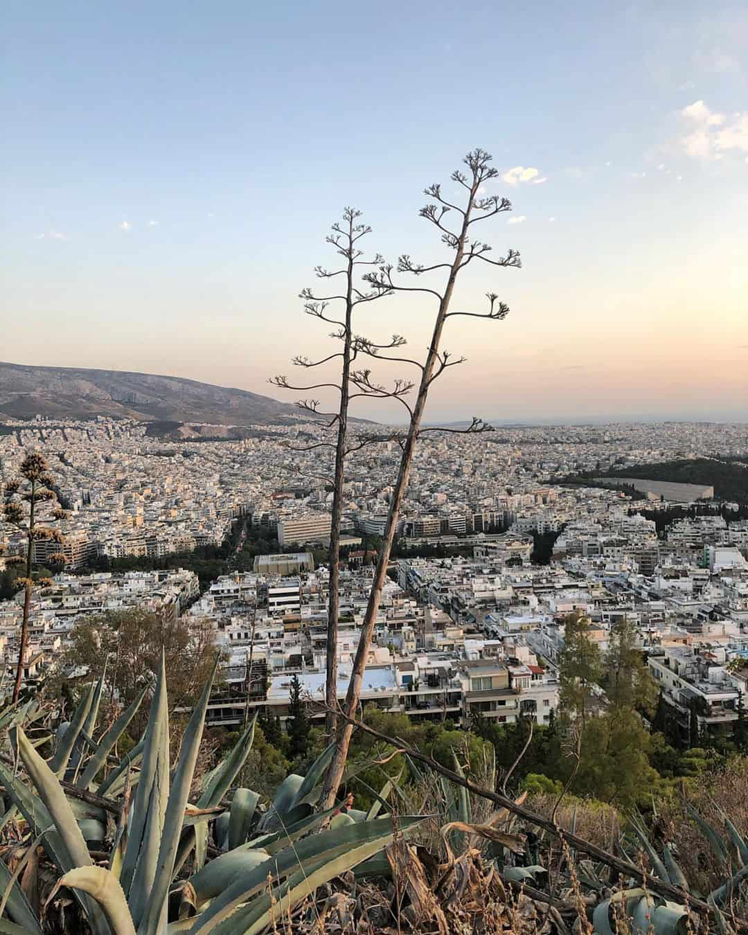 Greece Itinerary: The view from the top of Mount Lycabettus, Athens