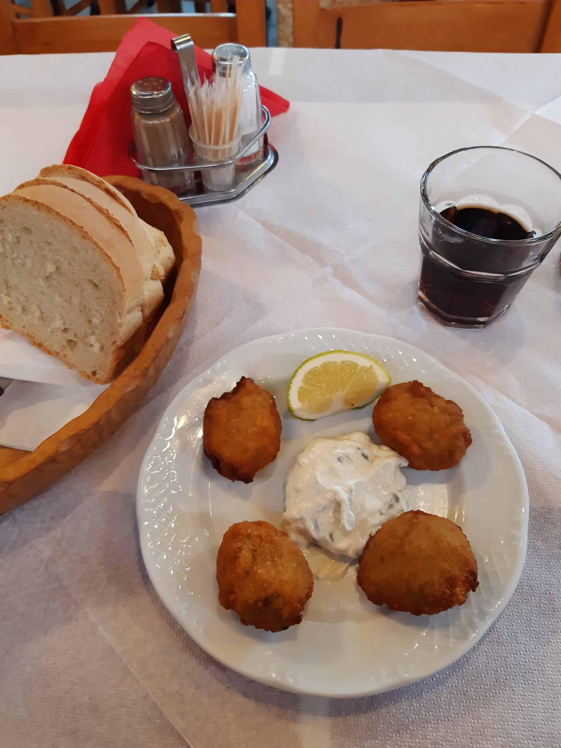 Traditional Greek food: Kolokithokeftedes