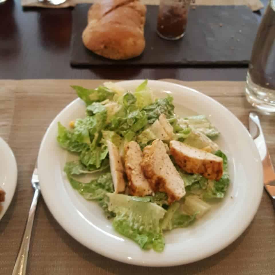 Delicious salad starter at the Byzantino restaurant, Hilton Hotel