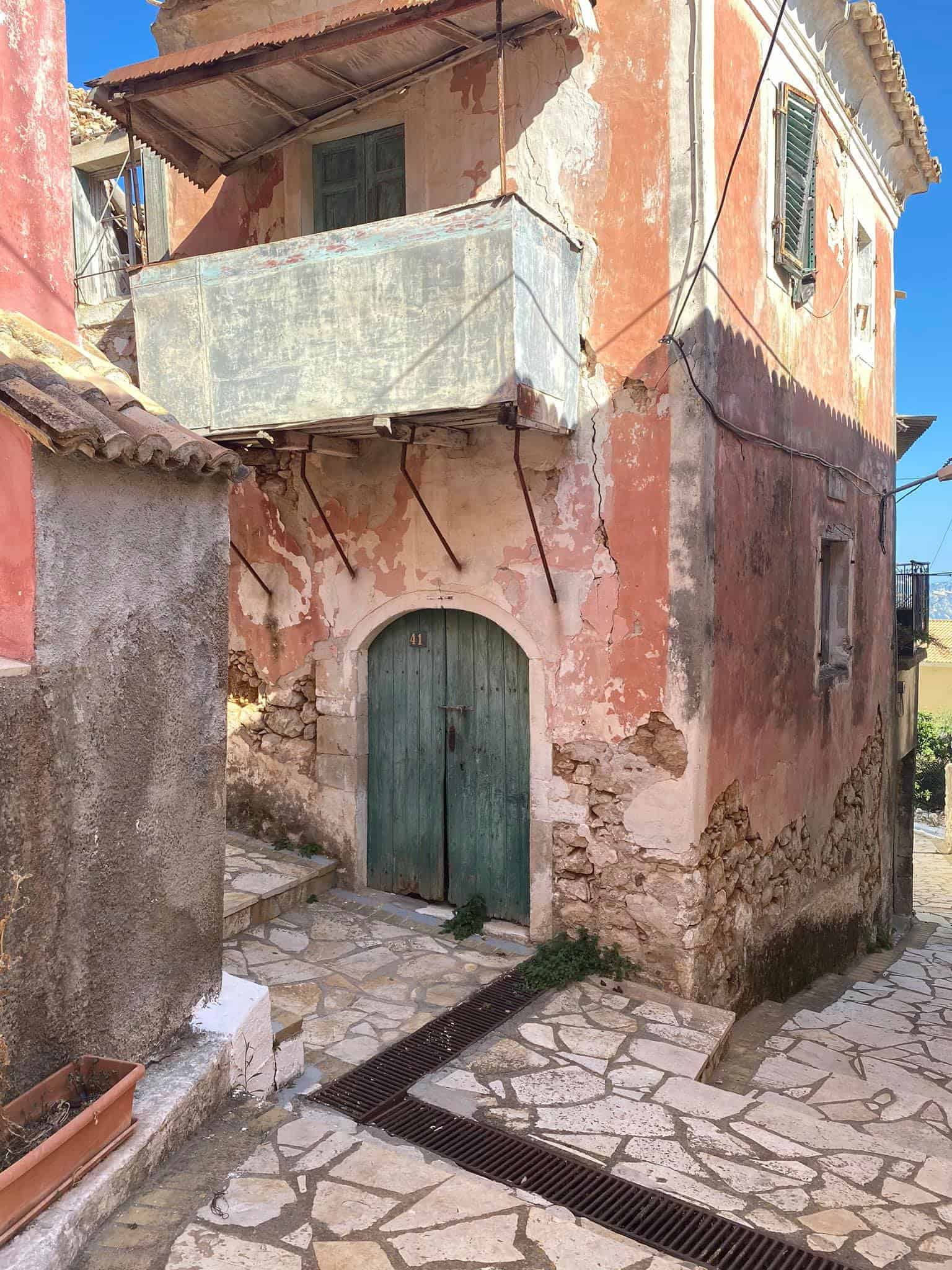 Lakones village is a stopping point on the Corfu Trail