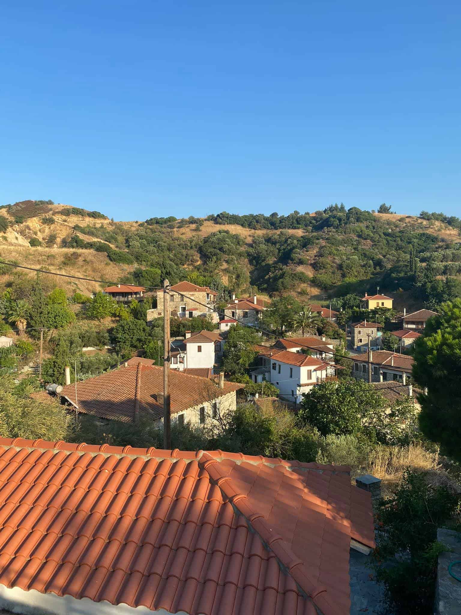 Viewpoint from Agios Nikitas courtyard