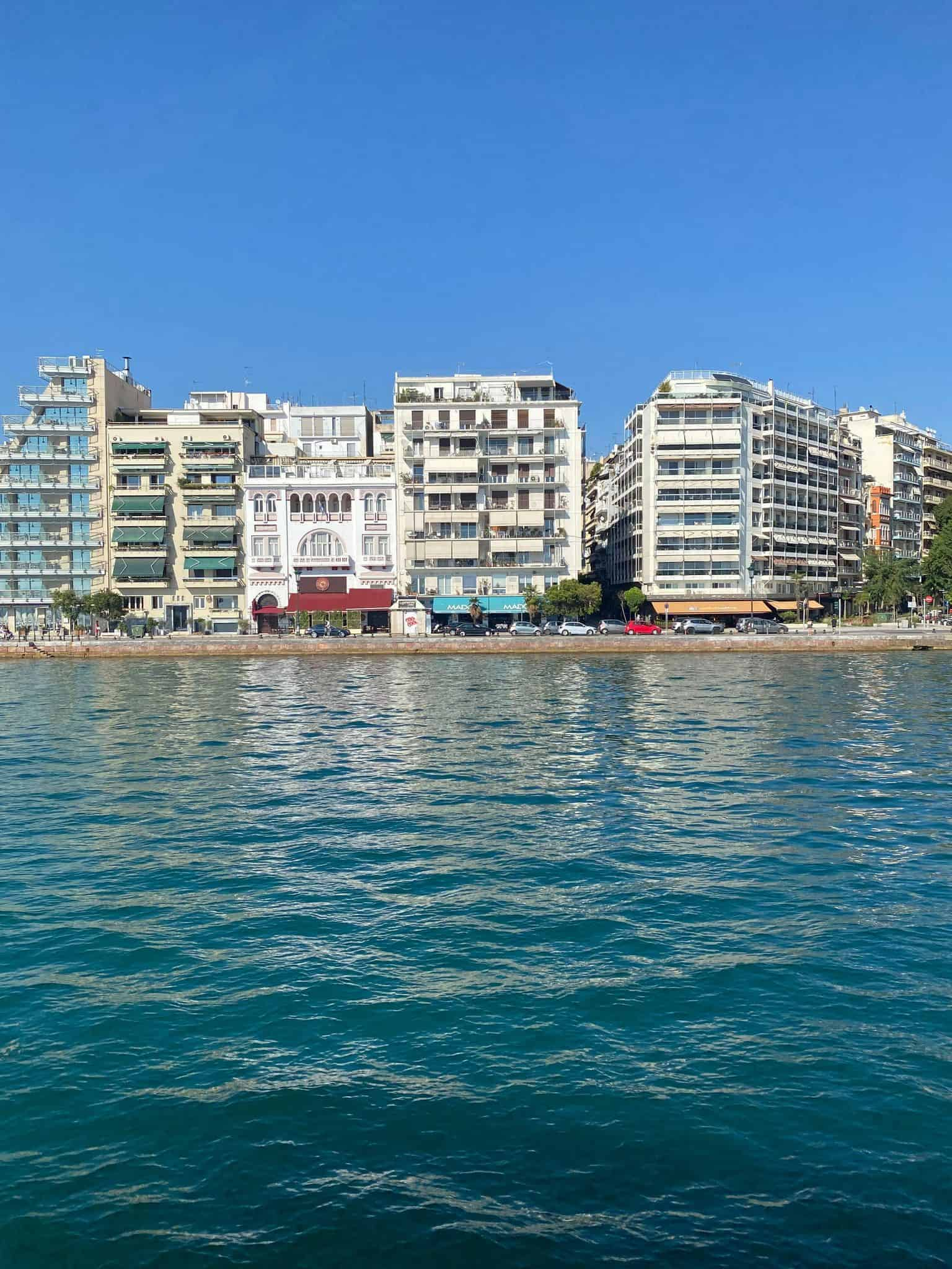 Departing Thessaloniki by sea taxi
