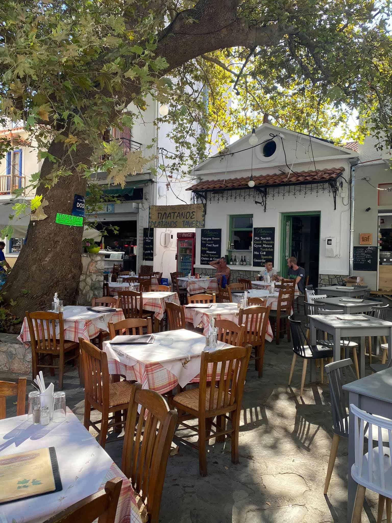 Platanos Taverna, Skopelos town