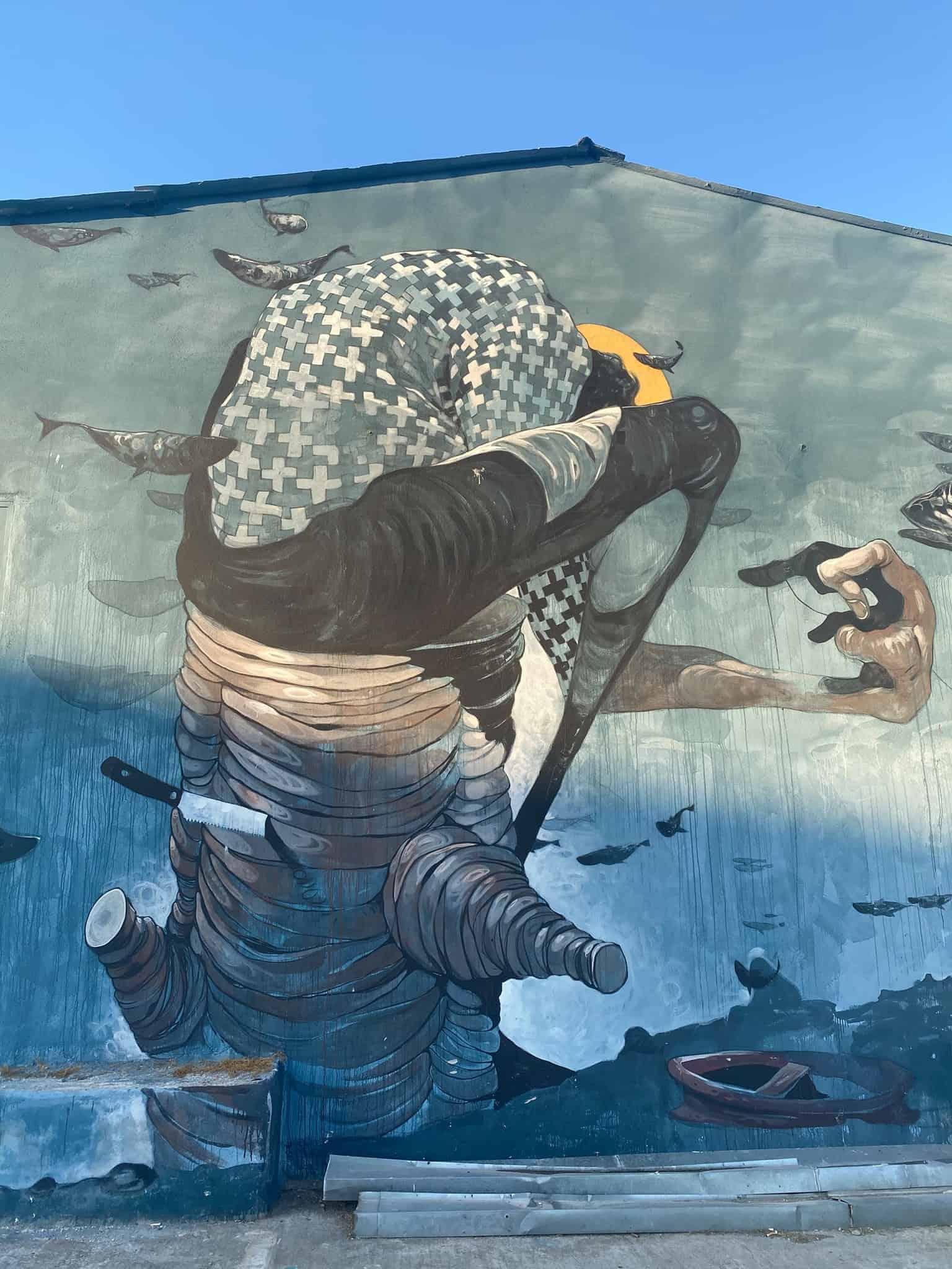 Street art close to the port area