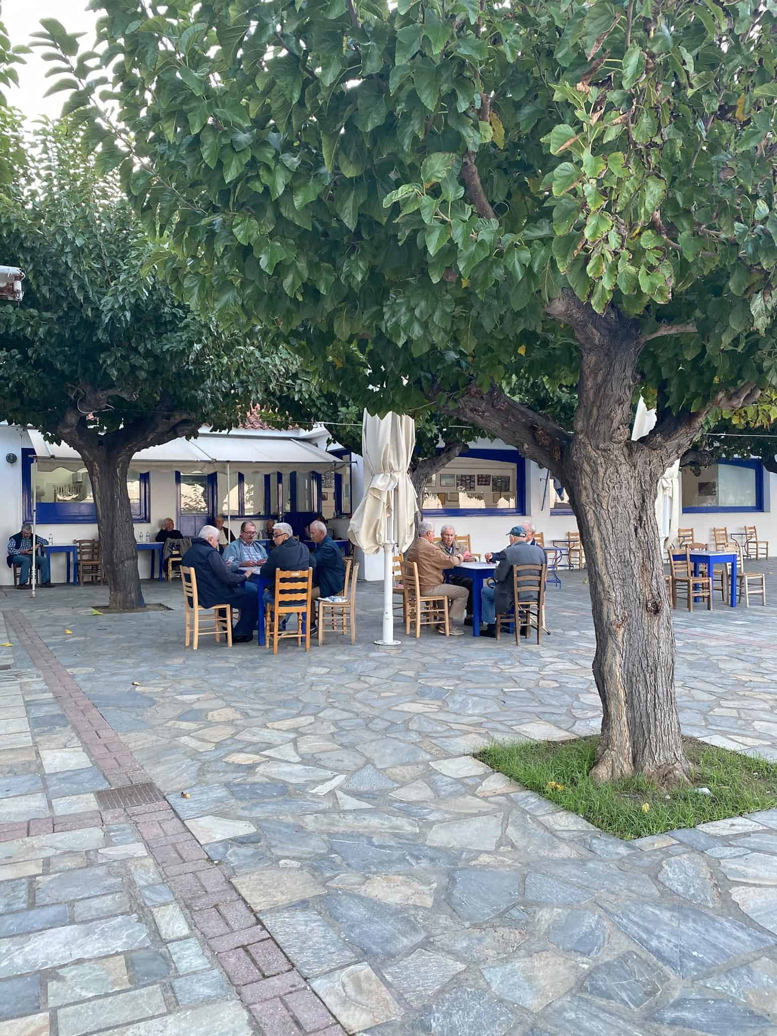 Greek coffee: a kafenion in Skopelos, Greece