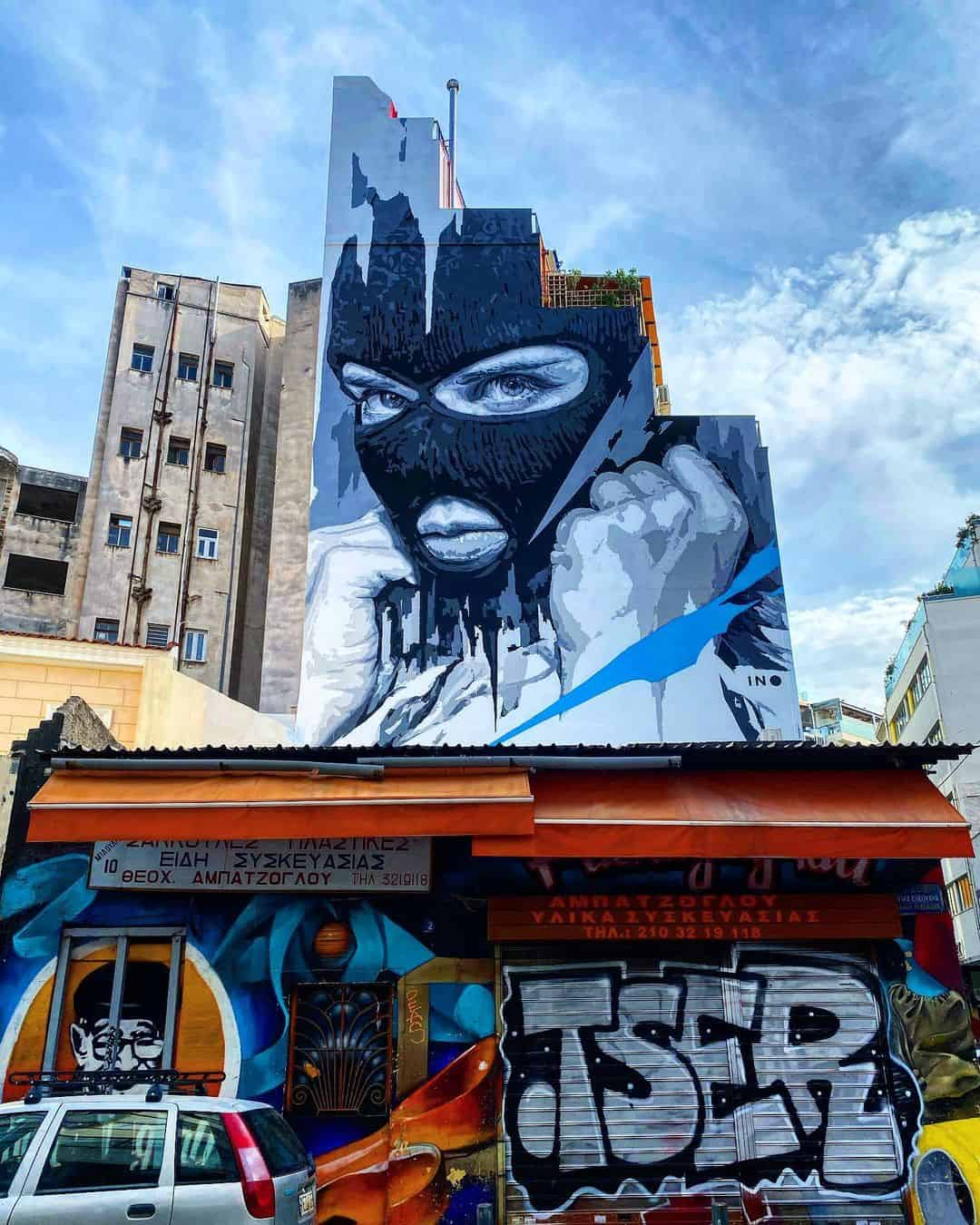 Psiri Athens boasts some of the best street art in Greece