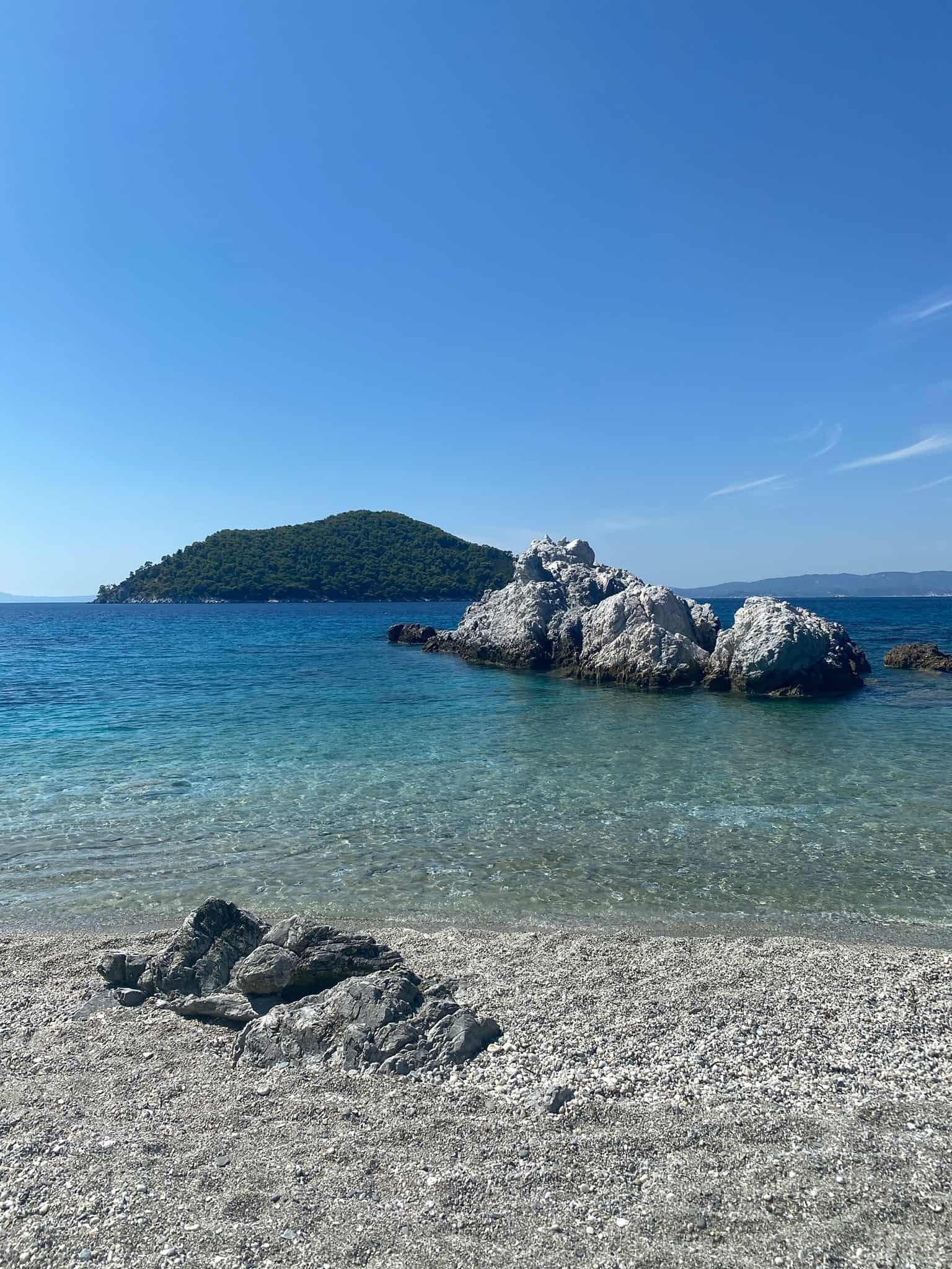 Milia beach, Skopelos beaches
