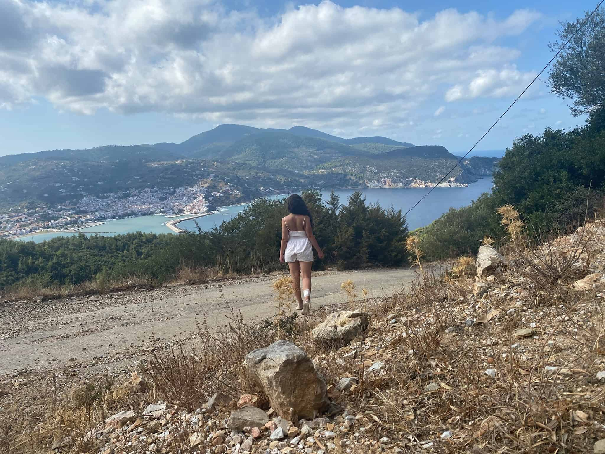 Hiking above Skopelos Town