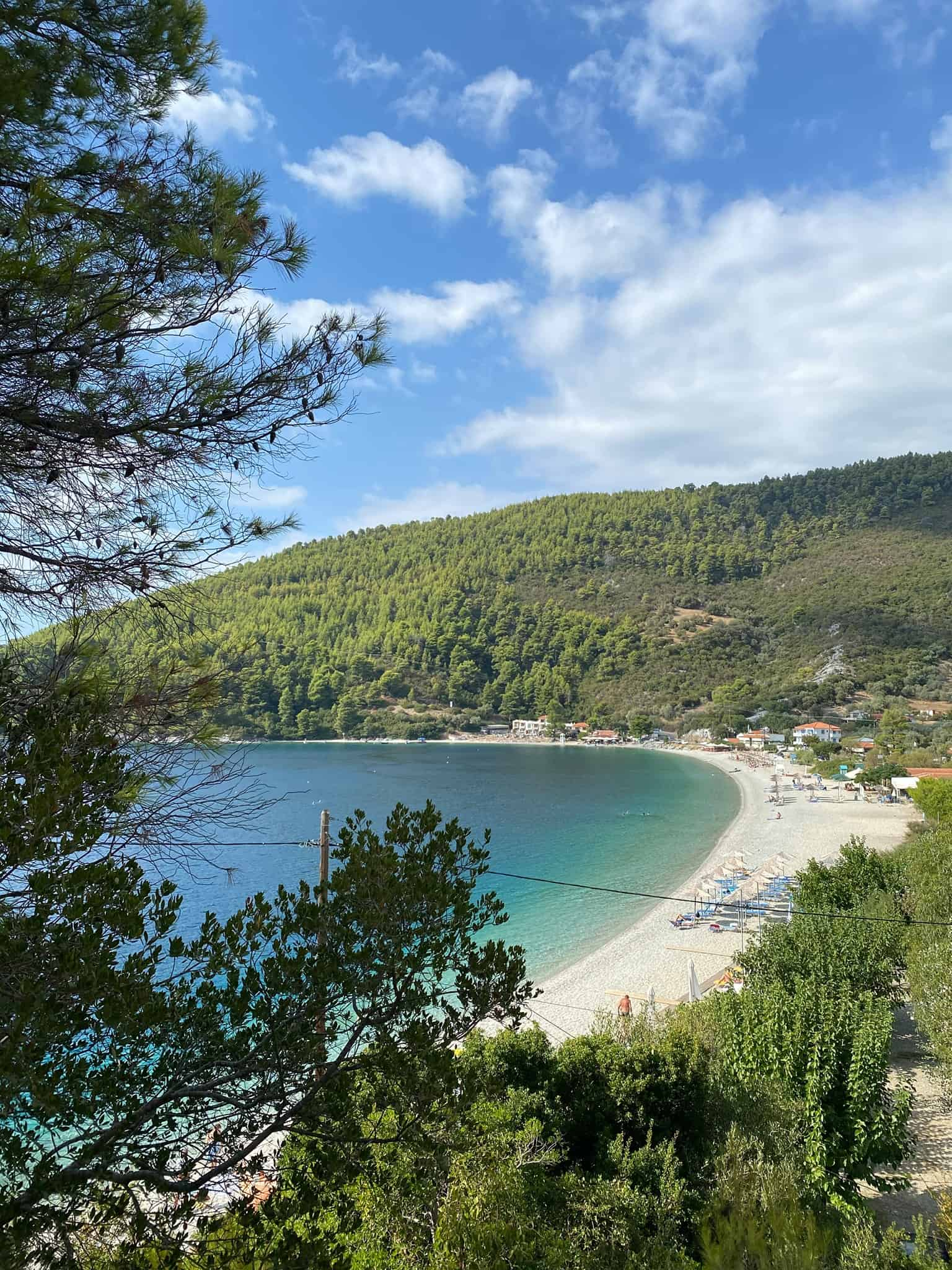 The gorgeous bay at Panormos