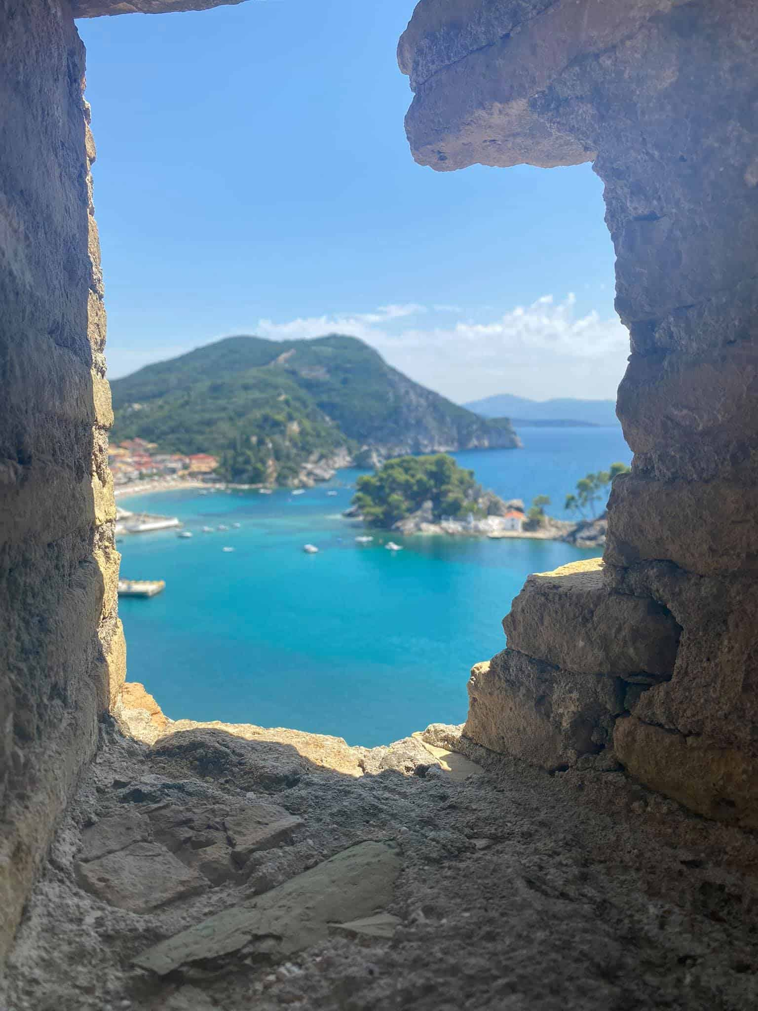 Views of Parga, Greece from the 15th Century Venetian Castle
