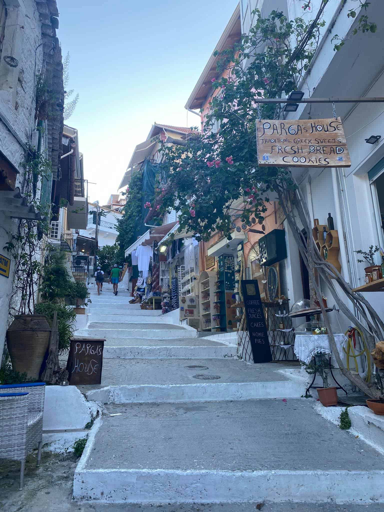 The quaint streets of Old Town Parga, Greece