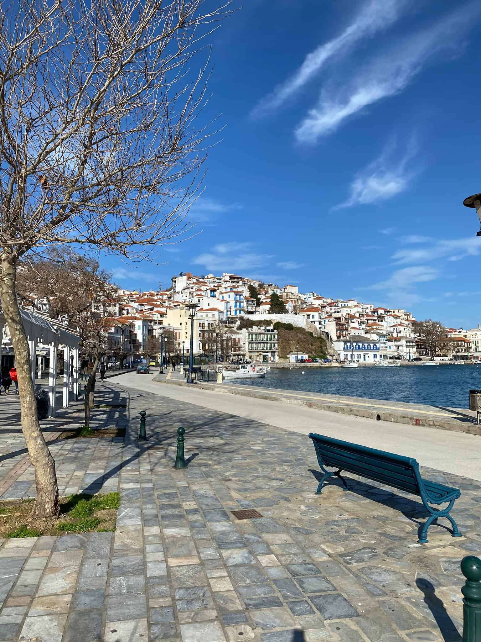Living on a Greek island: Skopelos port