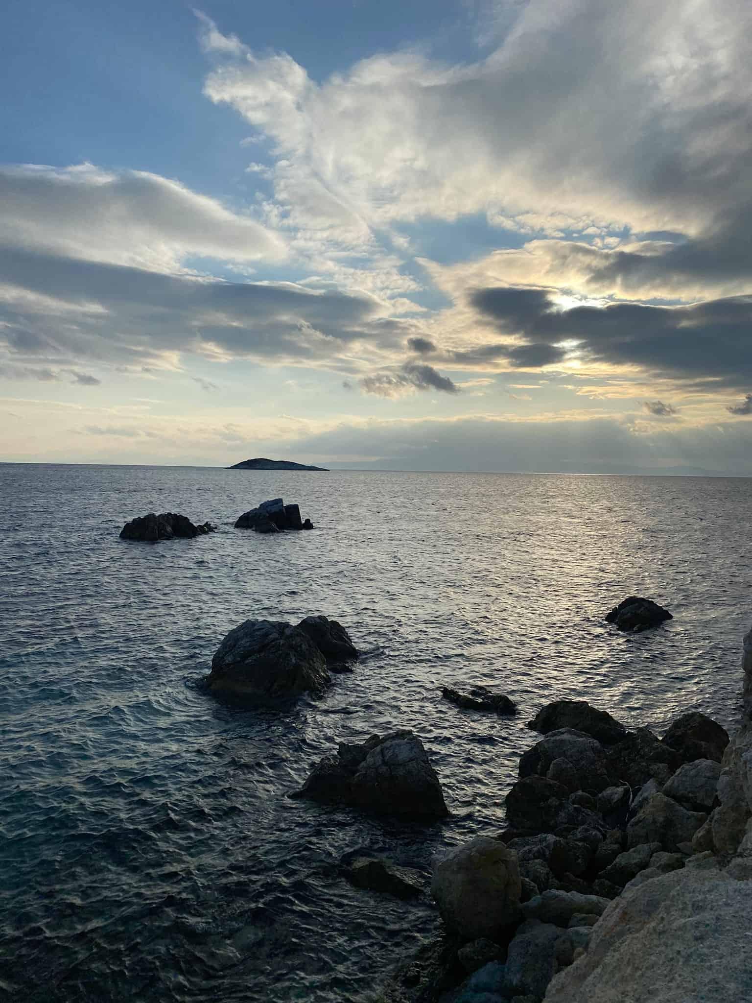 Sunset off Neo Klima beach