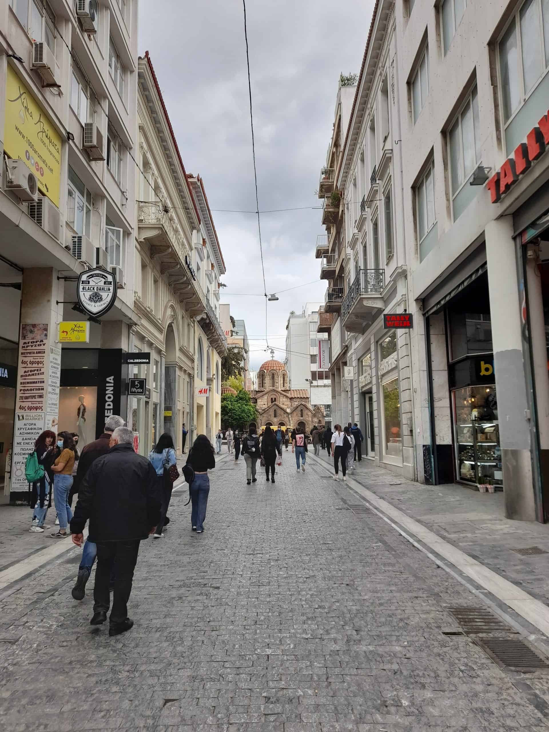 Living in Athens: Ermou street