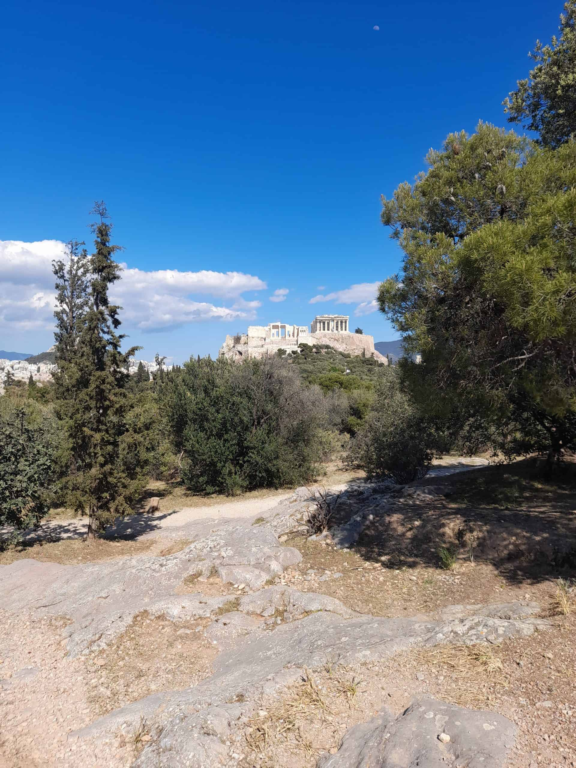 Looking out to the Acropolis from Pnyx Hill