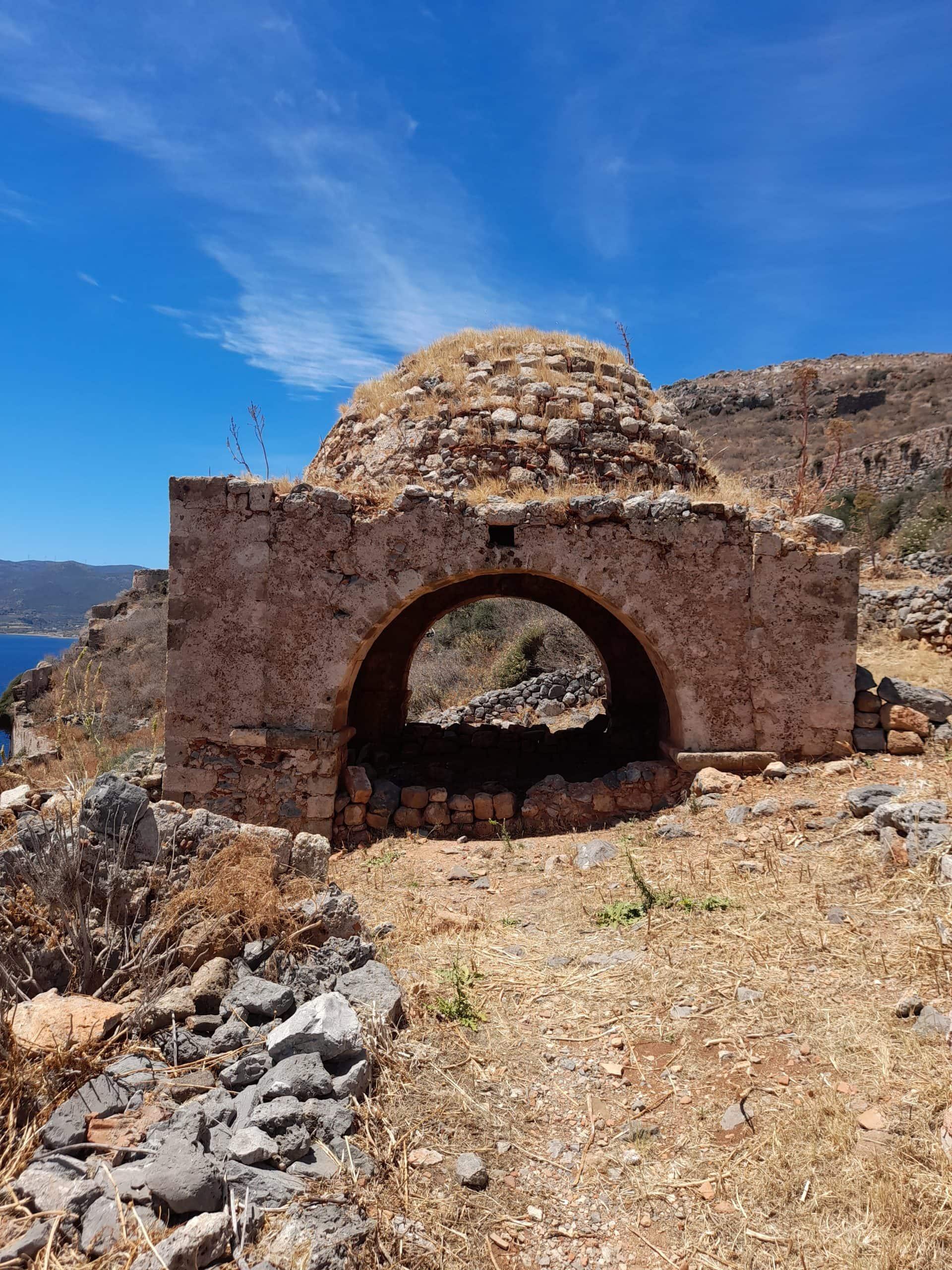 """An Ottoman mausoleum in """"upper town"""" Monemvasia"""