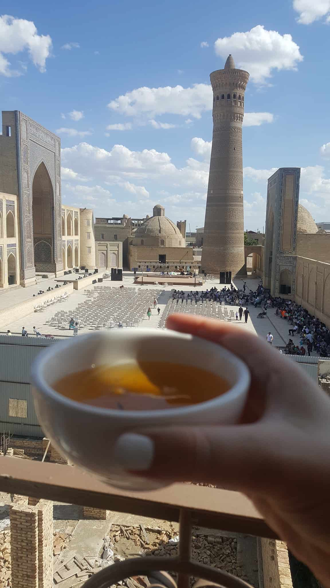 Uzbekistan itinerary: Tea with a view in Bukhara
